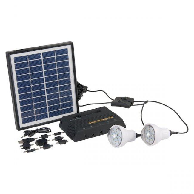 eclairage led solaire Kit du0027Eclairage Solaire Panneau 4W-2 Lampes Led