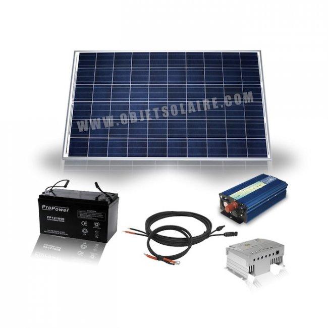 kit solaire complet pour site isol 255 w 12 230 v kit. Black Bedroom Furniture Sets. Home Design Ideas