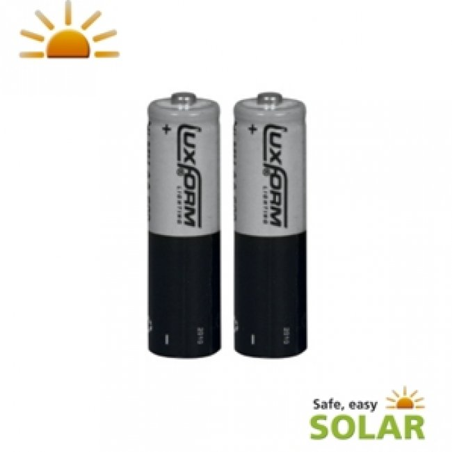 Piles Solaires rechargeables LifePo04 AA 600 Mah 3,2V pack de 2