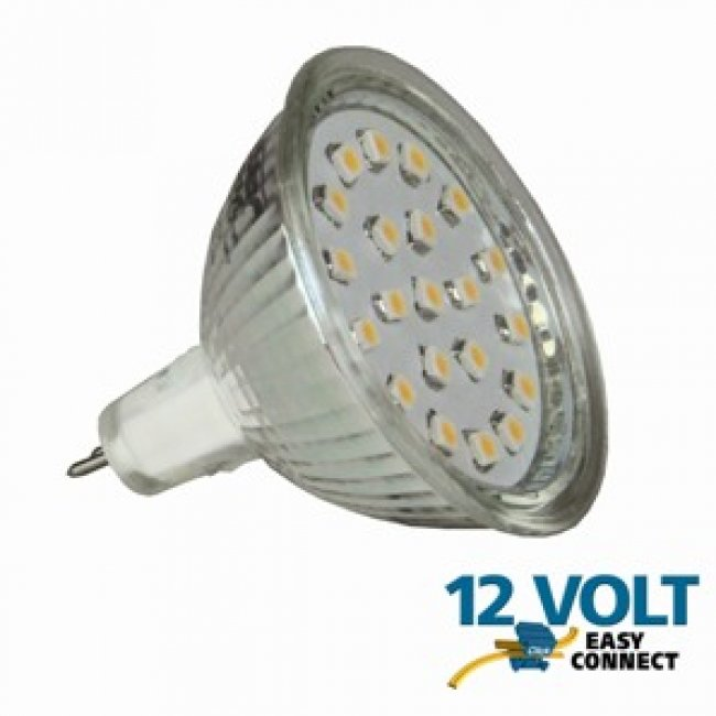 Ampoule Led 12V AC Easy Connect GU5.3 MR16 1,1 W Blanc chaud