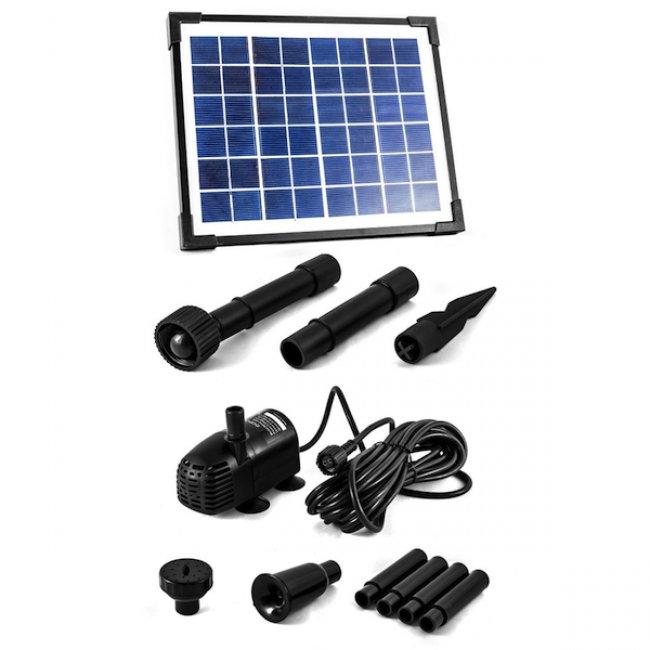 pompe fontaine solaire jet d 39 eau 5w 470l h pompe solaire. Black Bedroom Furniture Sets. Home Design Ideas