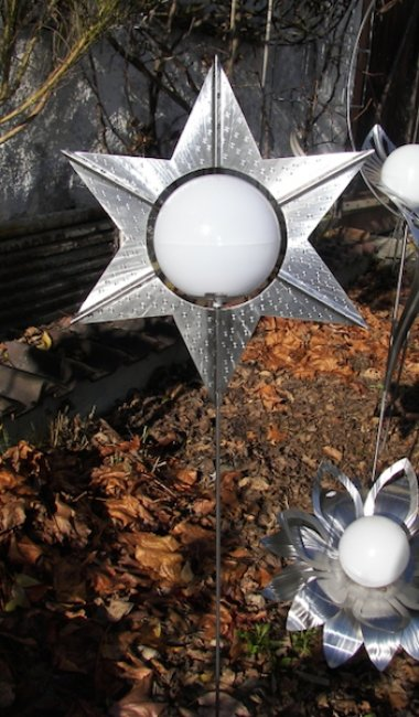 Lampe Solaire Etoile Inox Lampe Solaire Art Objetsolaire