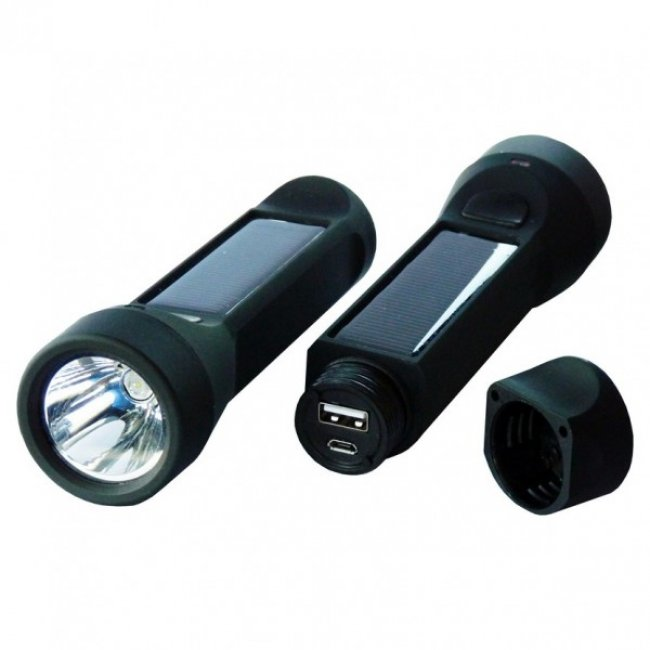 Lampe Torche Solaire Led 3 W Chargeur Lampe Solaire Nomade