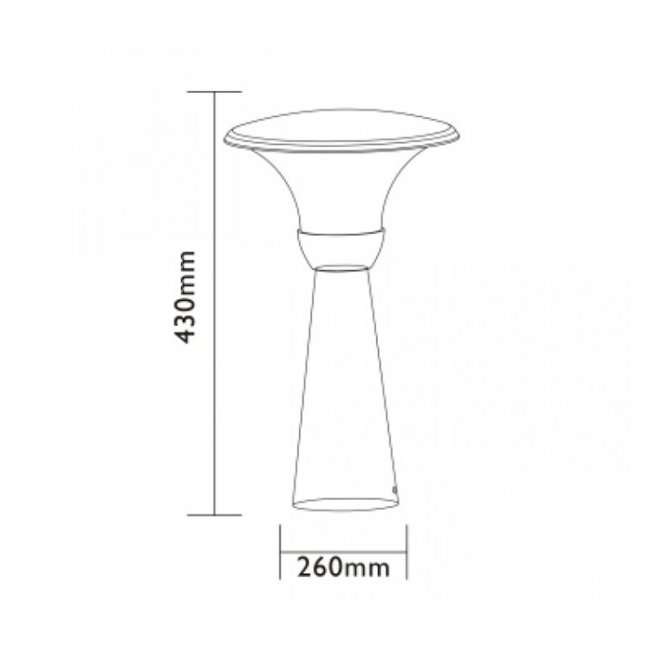 Lampadaire de Jardin  Led 12v PERTH 43 cm Easy Connect