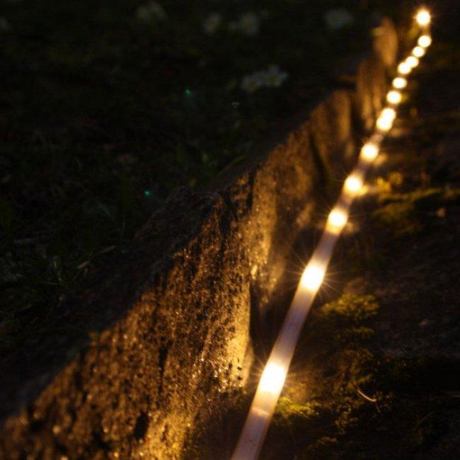 Ruban Led Solaire Blanc Chaud 3m 85 Lumens Decoration Solaire