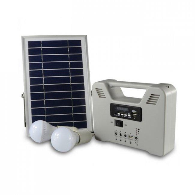 eclairage led solaire Kit du0027Eclairage Solaire Radio FM Télécommande 6W 2 Lampes Led ...