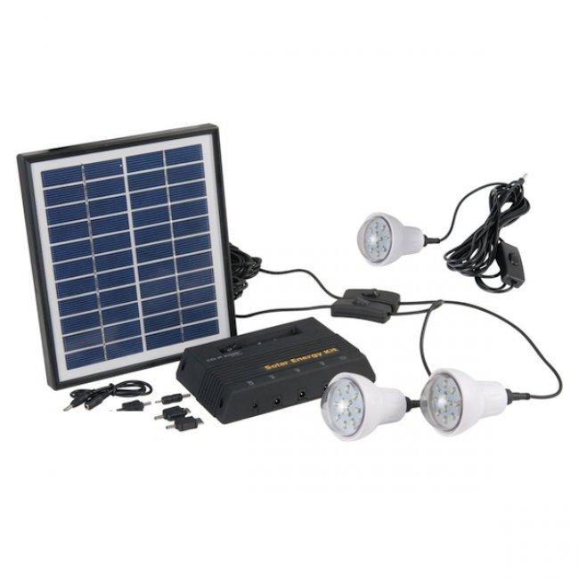 eclairage led solaire Kit du0027Eclairage Solaire Panneau 4W-3 Lampes Led Heit 300 Lumens