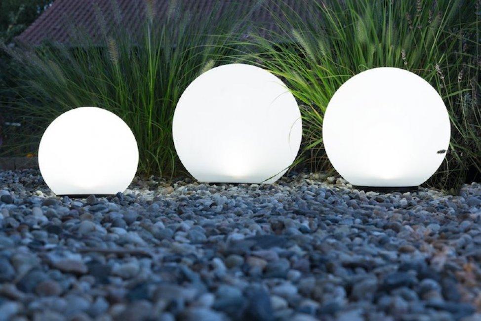Boule Solaire De Jardin 2 Led Osram 300mm