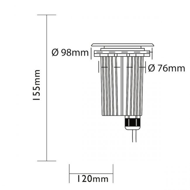 spot encastrable led inox 12v darwin 305 lumens basse tension easy connect objetsolaire. Black Bedroom Furniture Sets. Home Design Ideas