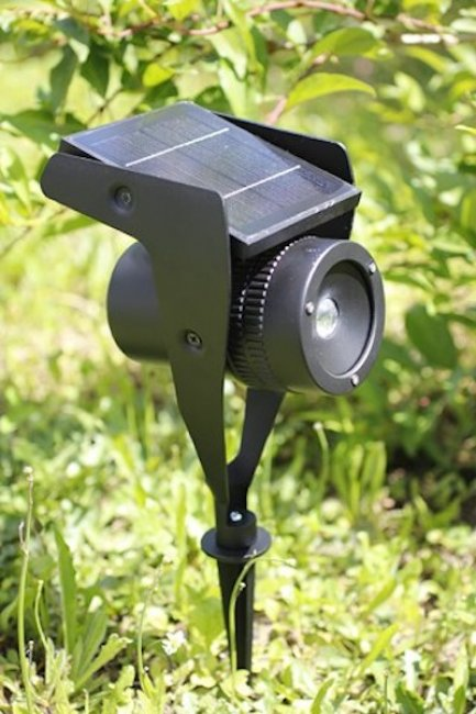 spot solaire puissant 150 lumens faisceau ajustable clairage solaire objetsolaire. Black Bedroom Furniture Sets. Home Design Ideas