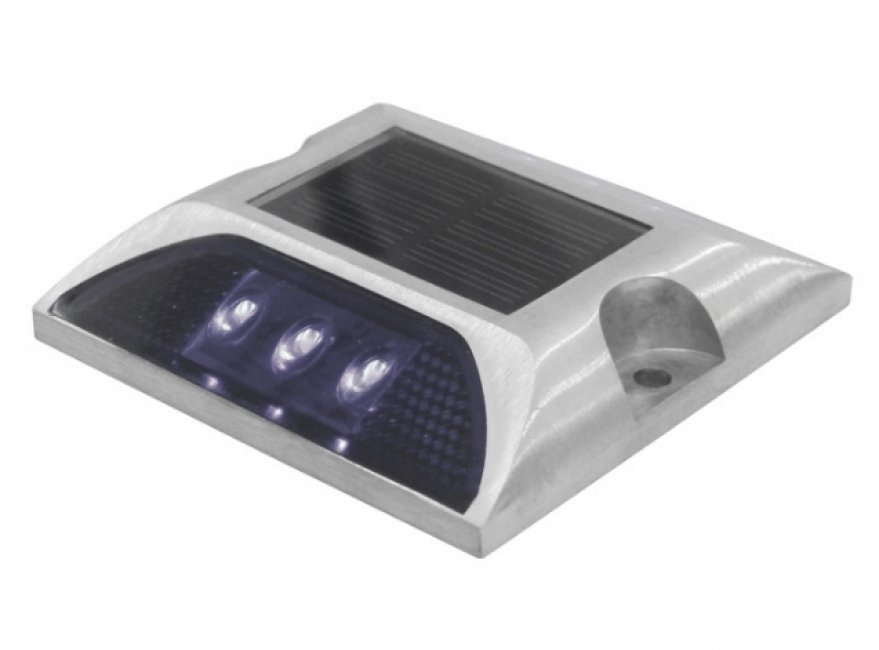 Pavés Solaires Routiers en Lot de 2 IP 68 6 Led Blanc fixe ZS-DL01