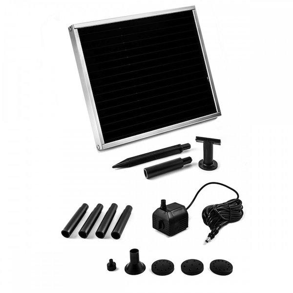 pompe fontaine solaire jet d 39 eau 150l h pompe solaire bassin objetsolaire. Black Bedroom Furniture Sets. Home Design Ideas