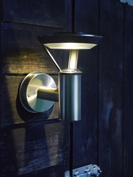 applique led solaire inox perpignan 25 lumens appliques solaires objetsolaire. Black Bedroom Furniture Sets. Home Design Ideas