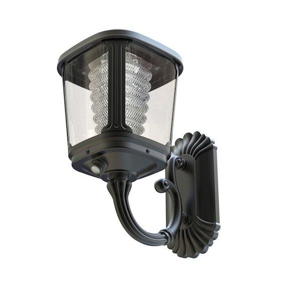 applique solaire puissante zs gl04 200 lumens ip 65 appliques solaires puissantes objetsolaire. Black Bedroom Furniture Sets. Home Design Ideas