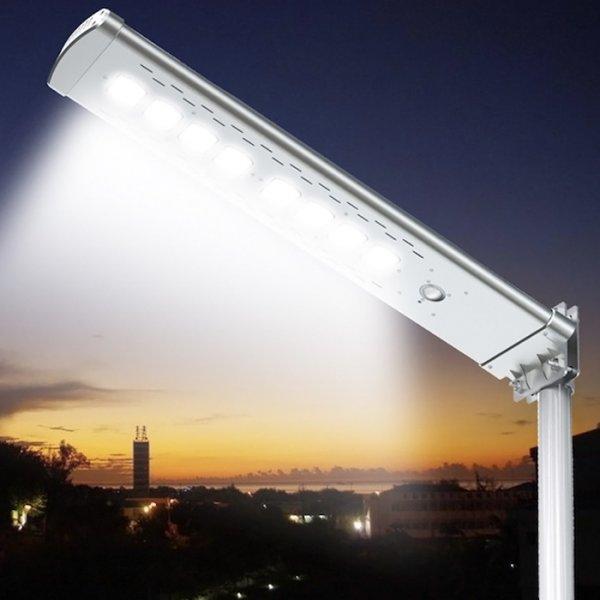 lampadaire solaire puissant t l commande 4500 lumens led zs sr7 eclairage solaire objetsolaire. Black Bedroom Furniture Sets. Home Design Ideas